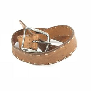 "Lucky Brand Sz L 34"" Length Brown Leather Belt"